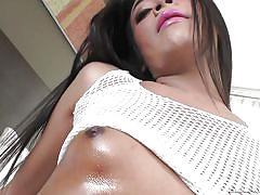 Sensual shemale strokes her horny cock @ the trans x-perience #06