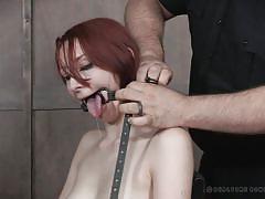 milf, bdsm, redhead, hairy pussy, mouth gagged, rope bondage, real time bondage, violet monroe