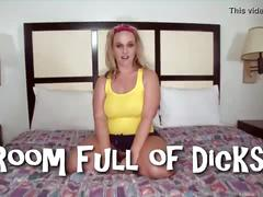 Wife in a room full of dicks