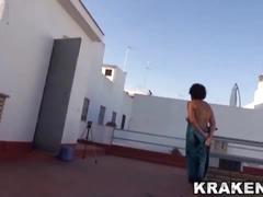 Krakenhot - voyeur video of a hot mature taking a sunbath