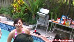 Damn exgirlfriend blowing cock at pool party