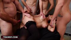 blowjob, gangbang, bareback, group, latin, latina, shemale, tranny