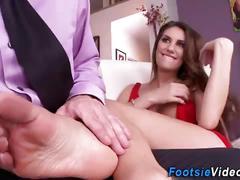 Foot fetish babe fucked
