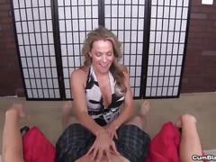 Cumblast-sexy milf makes a cock explode with cum