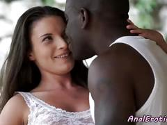 Anally fucked babe sucks big black dick