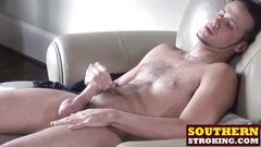 Horny tony gets his massive cock out and start jerking it