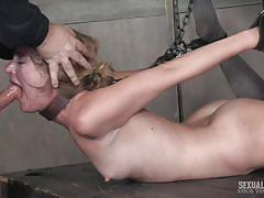 milf, blonde, threesome, bdsm, deepthroat, domination, vibrator, chained, device bondage, sexually broken, matt williams, mona wales, sergeant miles