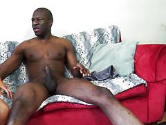Big black cock destroys this mature's vagina