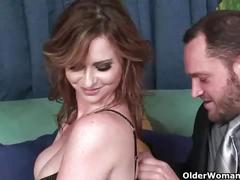 Busty milf violet addawson gets her hairy pussy fucked
