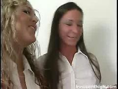 Watch laurie ann and tiffany use their tongues