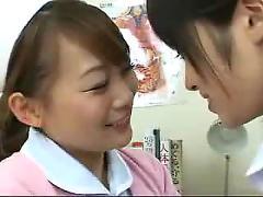 Hot asian nurses kissing 2