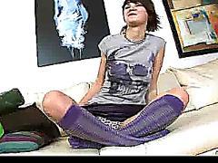 teen, wet, leggy, spreading