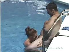 Cora to it in the pool