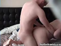 Busty blonde sexpot gets fucked doggy style