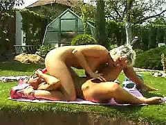 Lesbian backyard sex part 2