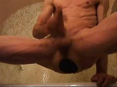 Monster butt plug fuck