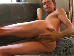 gay, anal, fist, dildo, fuck, double, shaved, balls, huge cock