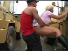 German couple in public