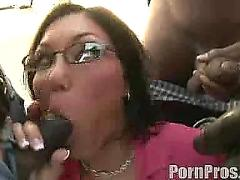 Black gang boys sucked by slut babe