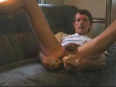 Self fuck & anal play