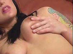 hardcore, tattoo, girl, masturbates, floor