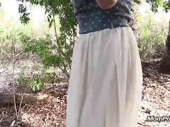 Arab amateur woman blowjob outdoors