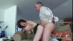 Busty grandma enjoys hardcore sex with her husband