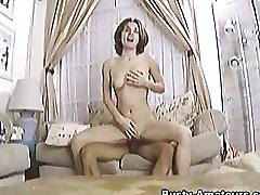 Busty sarah sucking cock and getting fucked