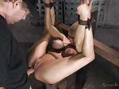 Blindfolded bitch fucked hard
