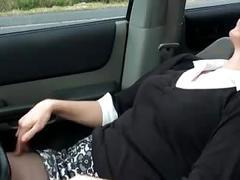 Milf driving.