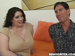 Bbw dominique gets picked , stripped and cock sucks!