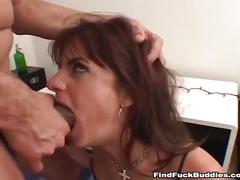 Crazy amateur babe eats ass then gives an amazing blowjob