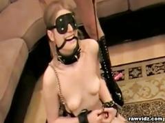 Mistress fucks submissive babe
