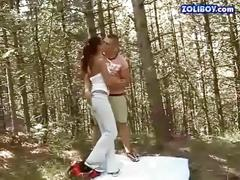 Boy fucking and pissing on his hot girlfriend