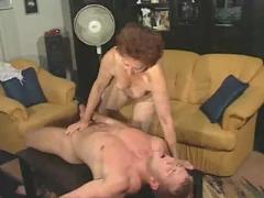 Granny susanne drains muscle boy