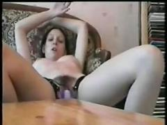 Teen masturbates with a butterfly..rdl