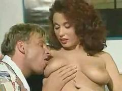 Hot french couple doing analsex on table