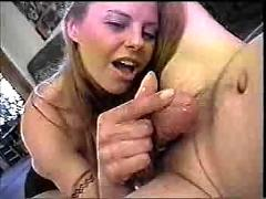 Lucky guy gets a dirty handjob!
