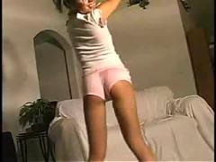 Sweet blonde teen dancing striptease! very sexy !!!