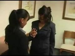 Lesbian secretaries caught by their boss...f70