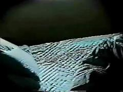My mom masturbate on bed in the night. hidden cam