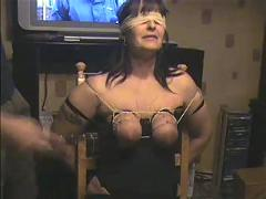 Tit whipping my whore wife