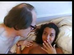 Arab girl with old man - french