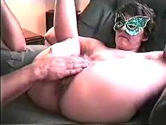 Slut gets fist fucked