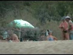 Beach gangbang