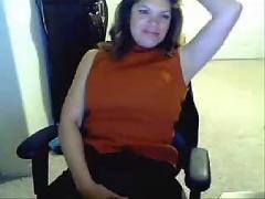 Milf flashing her big ass tits