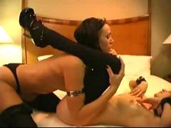 Hot goth latex oiled lesbians