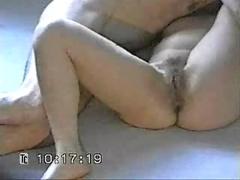 Hidden cam on amateur mature couple penetration