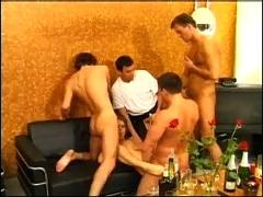 Awesome milf got drunk at menparty