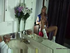 Sexy blonde cheerleader - live-sex-shows.tv